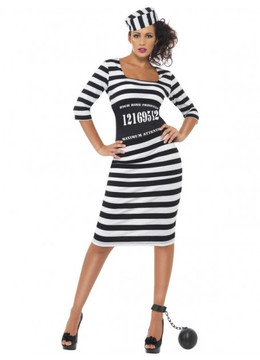 Prisoner Convict Womens Costume
