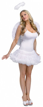 Petticoat Dress Adult White