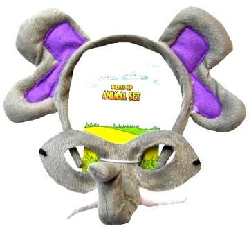 Elephant Animal Headband & Mask Set