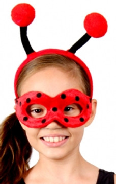 Lady Bug Animal Headband & Mask Set