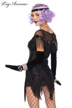 Flapper 1920s Foxtrot Flirt Black Dress