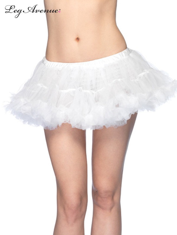 Petticoat Puffy Chiffon Mini White