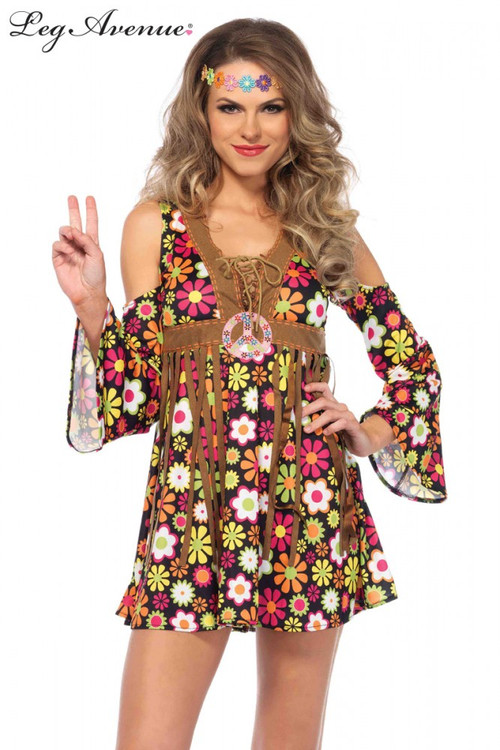 1960's Starflower Hippie Women's Costume