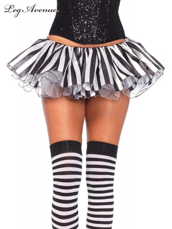 Tutu Striped Satin And Chiffon