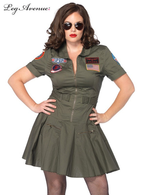 Top Gun Plus Size Flight Dress Costume