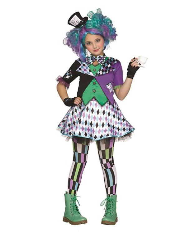 Mad Hatter Tween Girls Costume