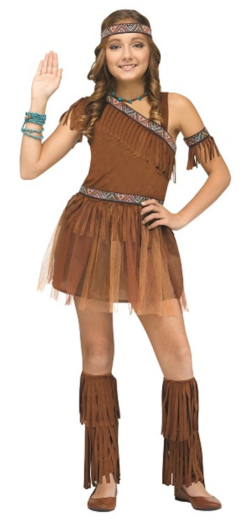Indian Native American Tween Girls Costume