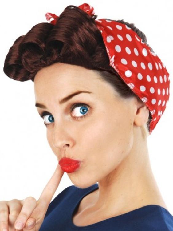 1940's 50s Peggy Plum Wig
