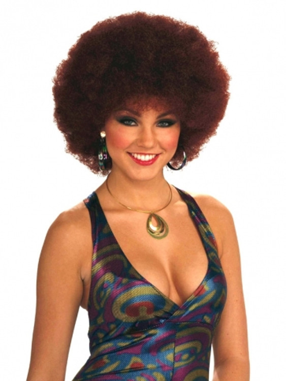 Afro Wig - Disco Doll Red
