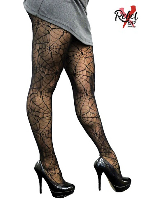 Spider Web Womens Tights