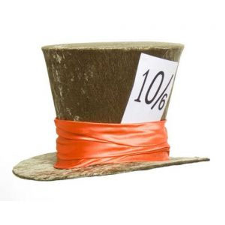 Mad Hatter Deluxe Velvet Top Hat - Green