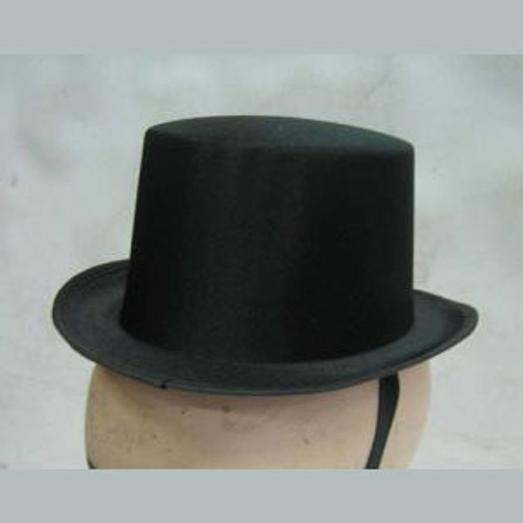 Top Hat - Mini Black Satin