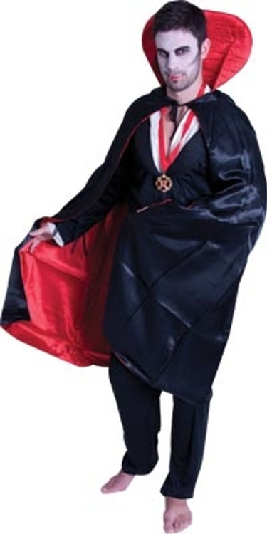 Satin Reversible Cape w/Collar - Deluxe