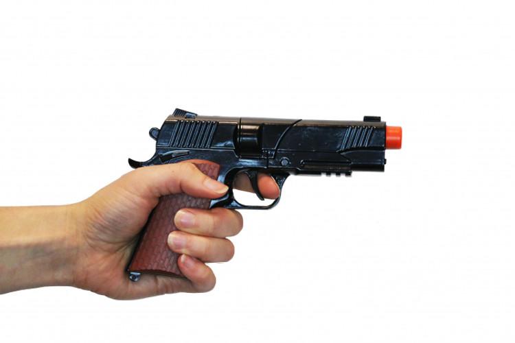 Diecast Automatic Pistol Black
