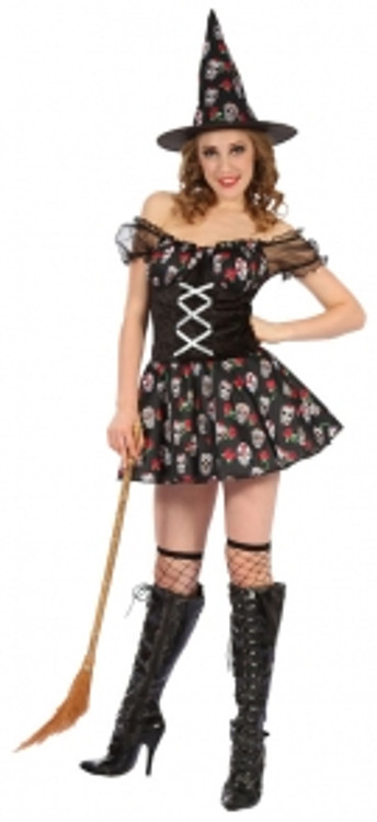 Day of the Dead Witch - Adult- Medium