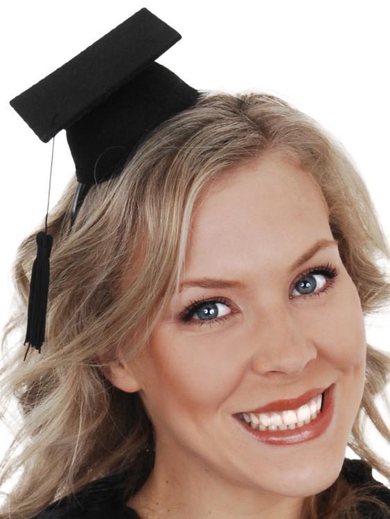 Mortar Board Graduation Hat Mini Headband