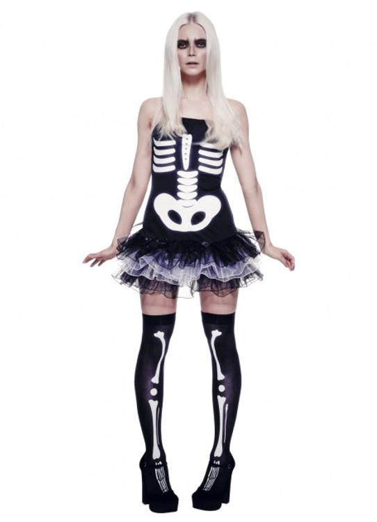 Skeleton Tutu Womens Costume