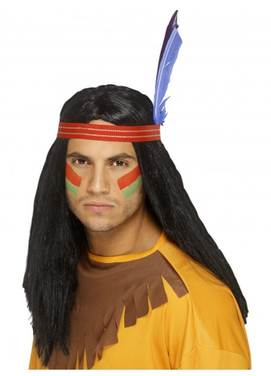 Native American Indian Brave Wig