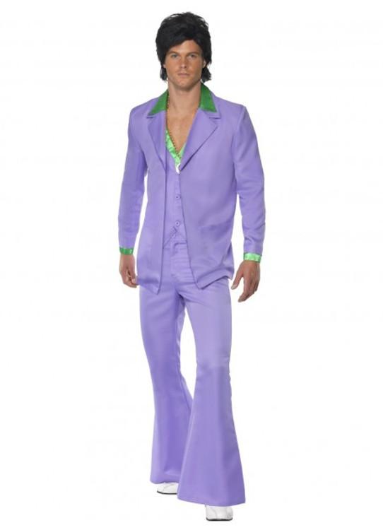 1970's Lavender Disco Mens Costume