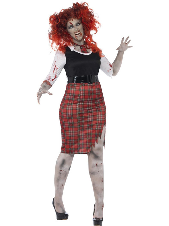 Zombie School Girl Plus Womens Costume