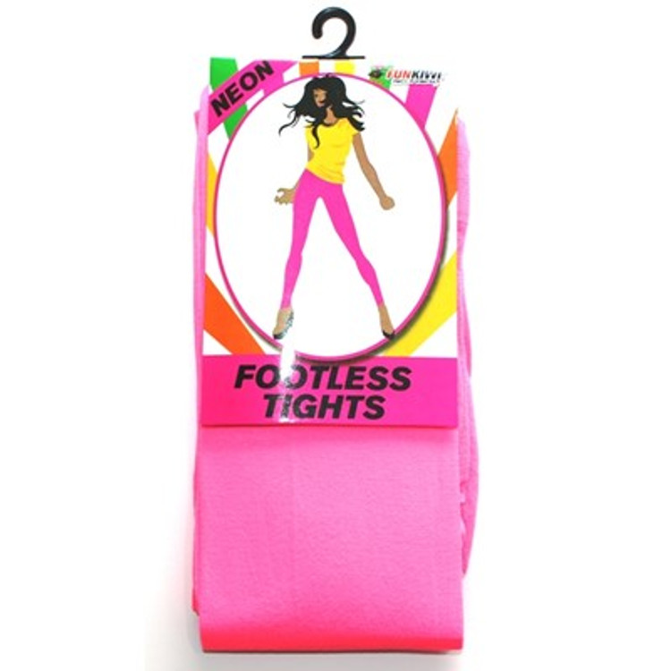 Footless Tights, Pink Neon