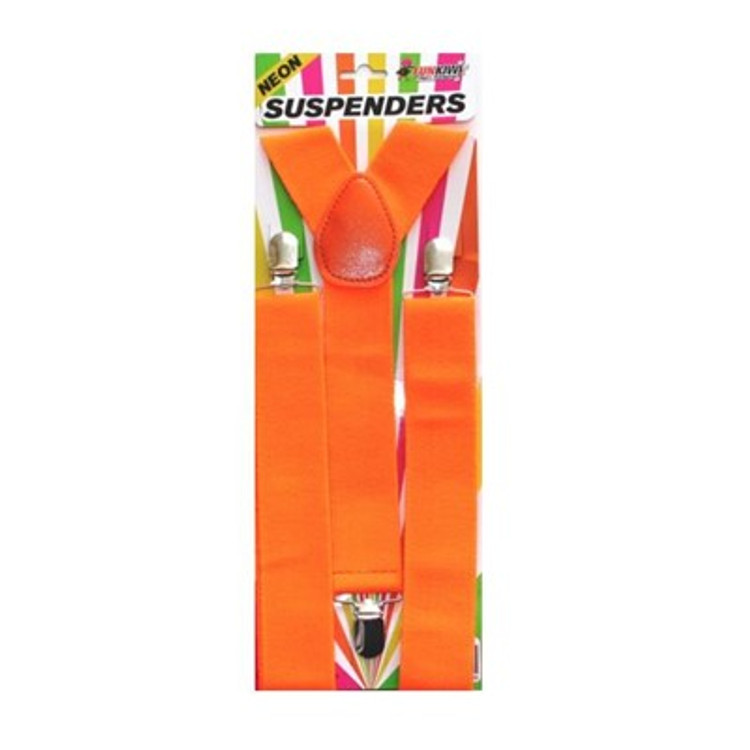 Braces Suspenders - Neon Orange