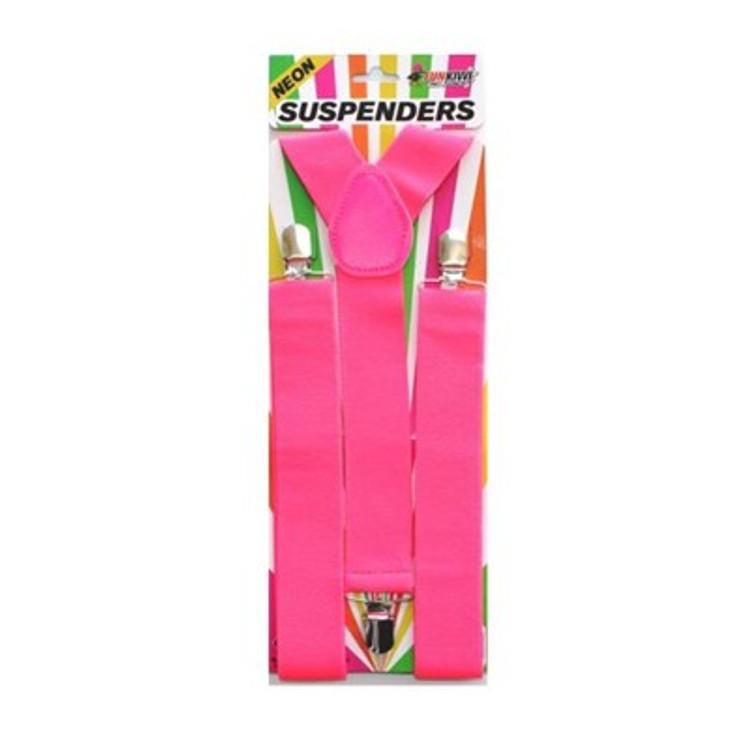 Braces Suspenders - Neon Pink