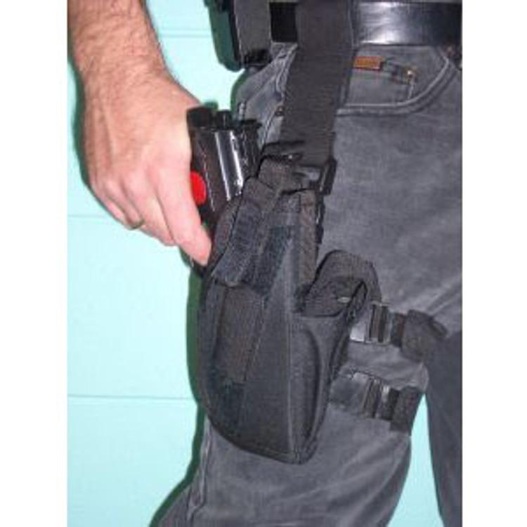 Police   Gangster Leg Holster Gun Black Nylon