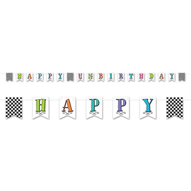 Alice in Wonderland Happy Un Birthday Banner