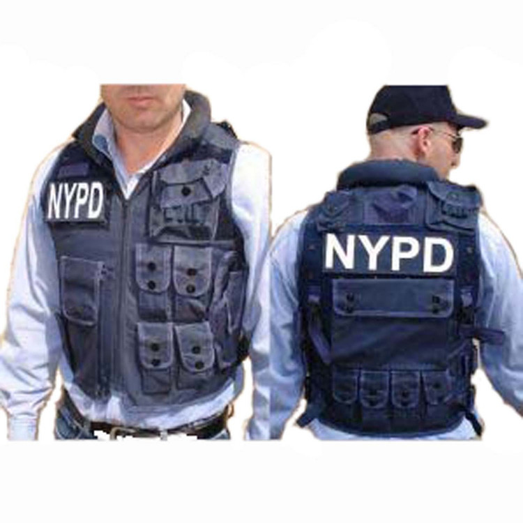 Police NYPD Costume Vest With Hat