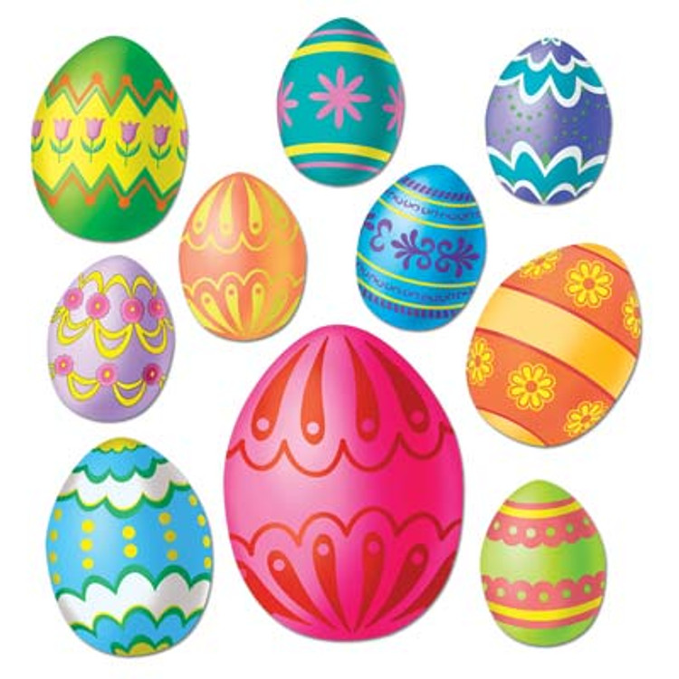 Easter Egg Cut Outs 10pkt