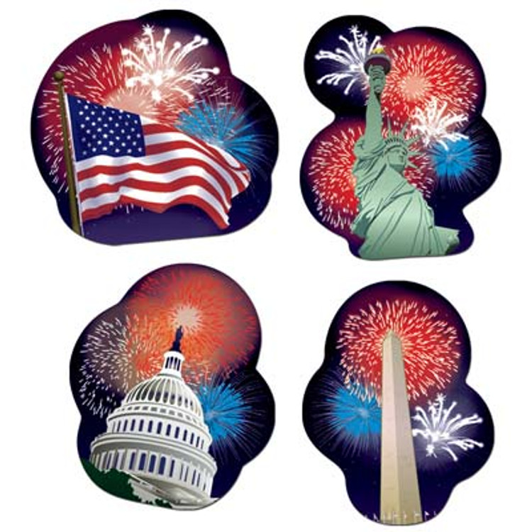 American Patriotic Cut Outs