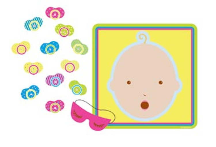 Baby Shower Game Pin The Pacifier