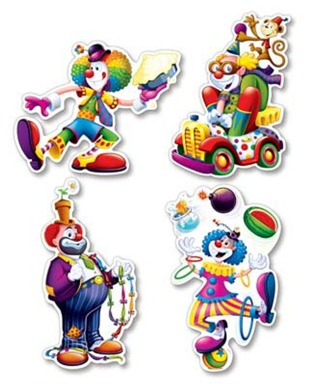 Circus Clown Cut Outs