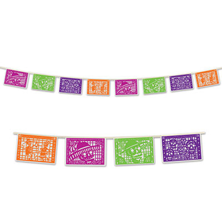 Day of the Dead Picado Pennant Banner