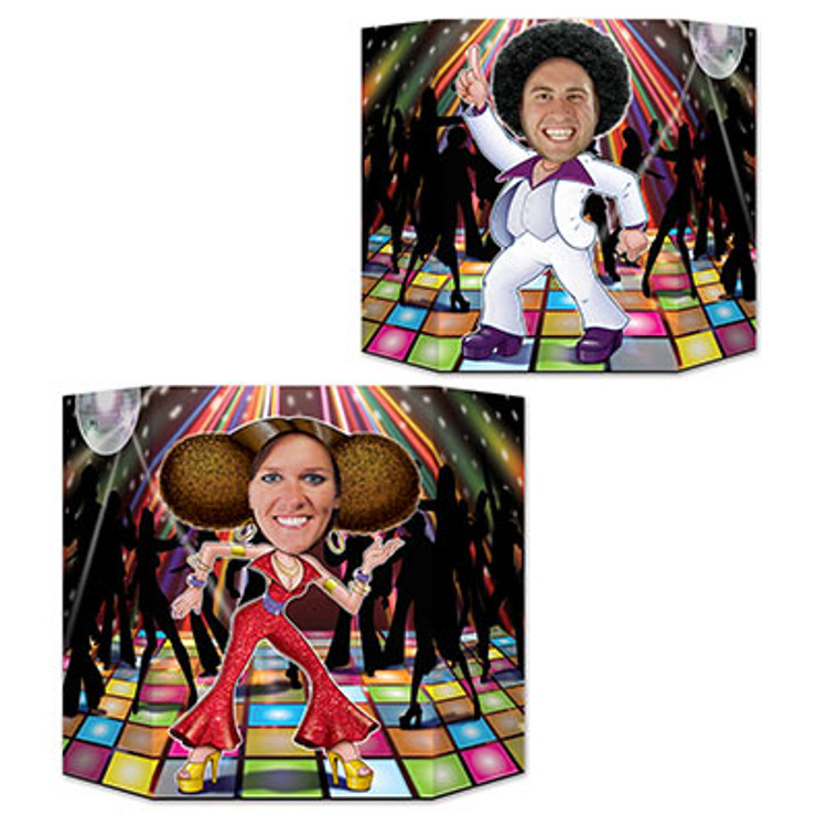 Disco Couple Photo Prop