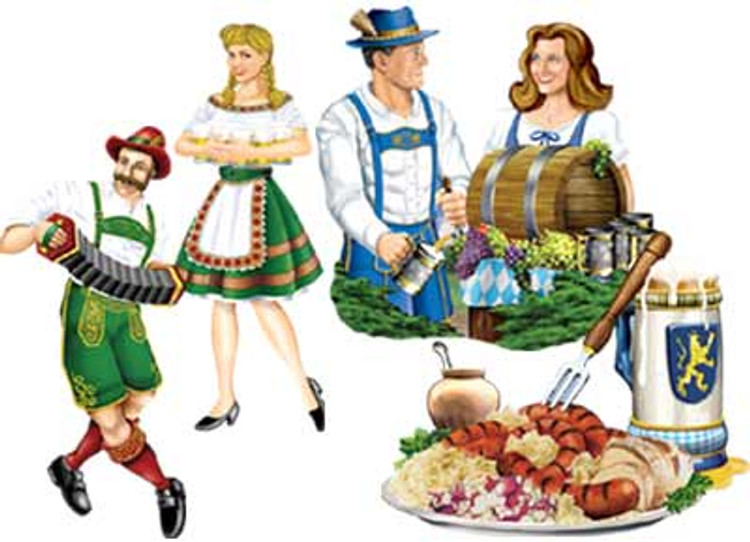 German Oktoberfest Cut Out