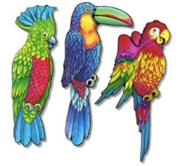 Exotic Bird Cut Out