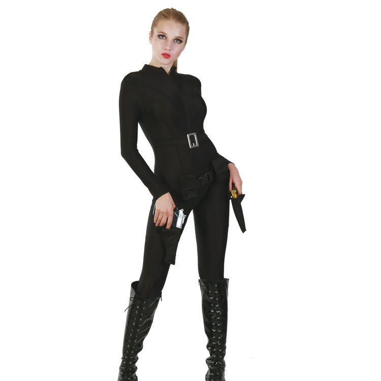 Spy Black Bodysuit