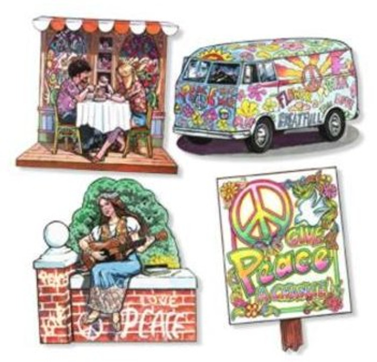Hippie 60's & 70's Cut Outs