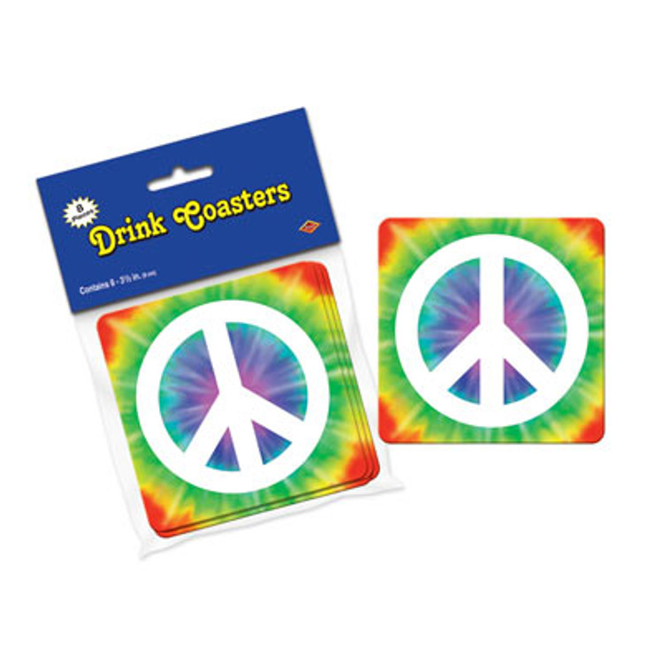 Hippie Peace Sign Drink Coasters