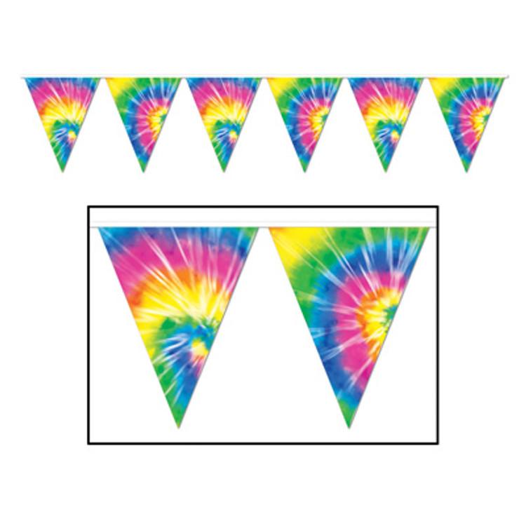 Hippie Tye-Dyed Pennant Banner