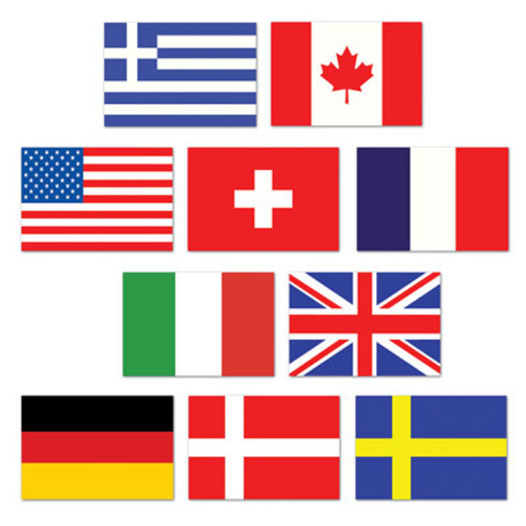 International Flag Cutouts