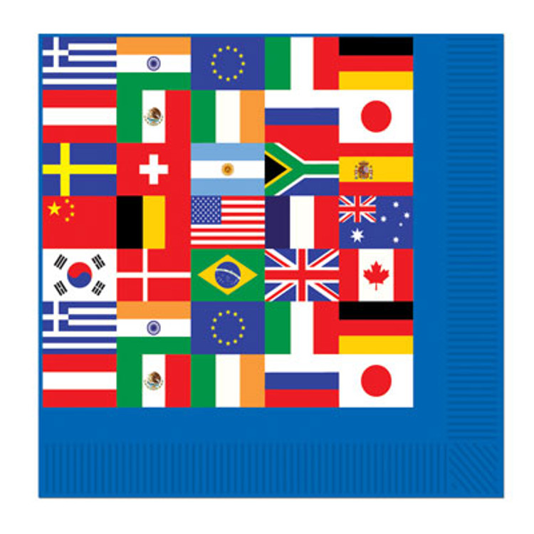 International Flag Napkins Luncheon