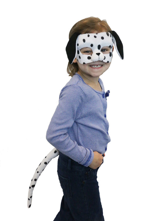 Dalmatian Dog Mask & Tail Set