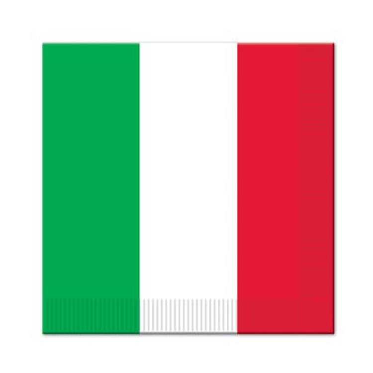 Italian Luncheon Napkins Red, White & Green