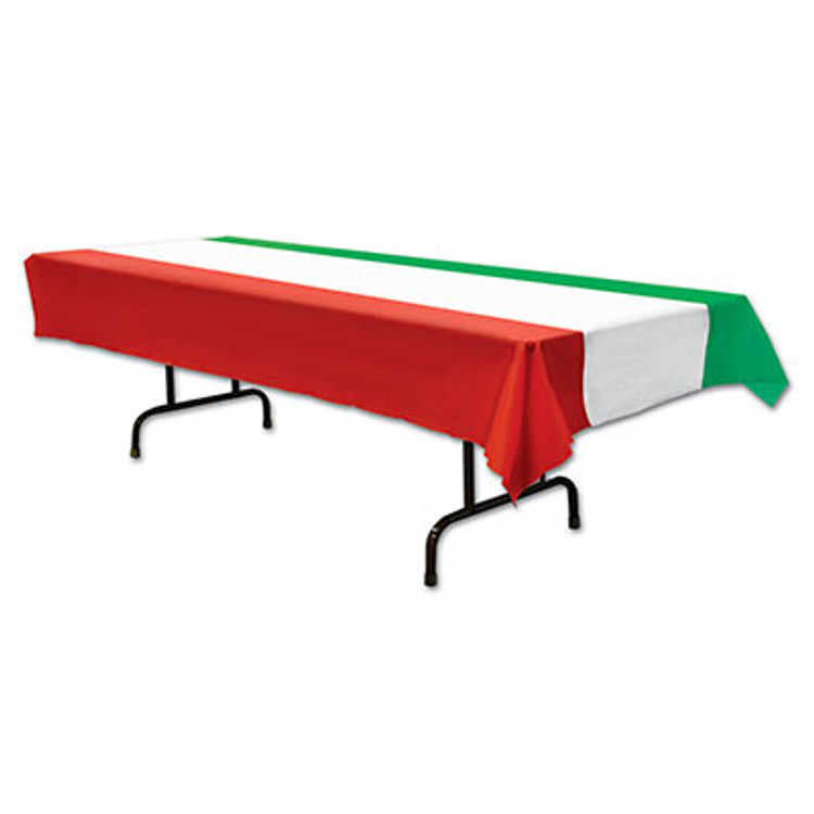 Tablecover - Rectangle Red, White & Green