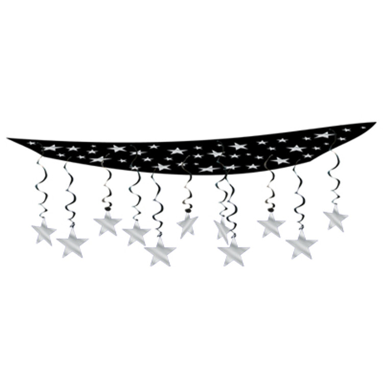 Movie Ceiling Decor Black with Silver Star