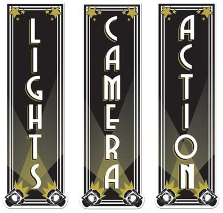 Movie Lights, Camera Action Cut Outs