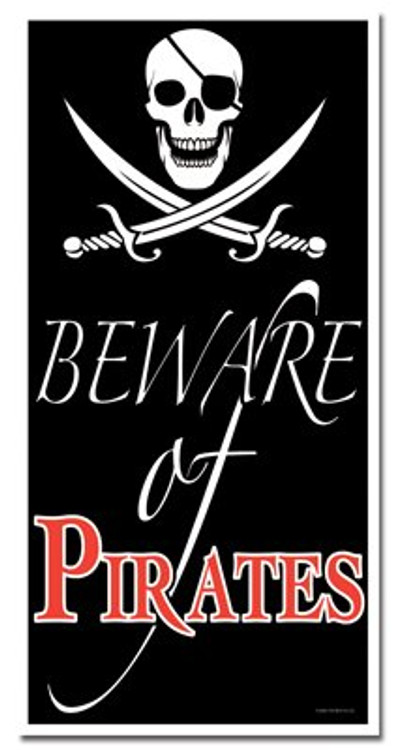 Pirate Door Cover Beware of Pirates